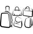 set bag icons vector image