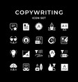 set glyph icons copywriting vector image vector image