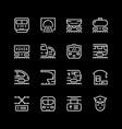 set line icons railroad vector image