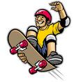 skater doing skateboard trick vector image vector image