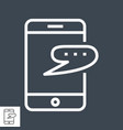 smartphone with speech bubble vector image vector image