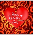 St Valentines greeting card design vector image vector image