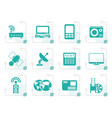 stylized business technology communications icon vector image vector image