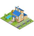 suburbia building concept vector image vector image