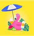 summer vacations background with beach elements vector image vector image