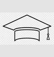 symbol graduation cap thin line icon college vector image