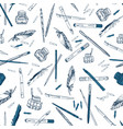 tools for a calligrapher vector image