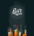 vertical template for bar menu alcohol drink vector image vector image