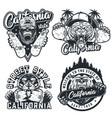 vintage skateboarding monochrome labels vector image vector image