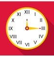 Wall clock icon flat style vector image vector image