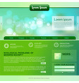Web site design Ecology background vector image vector image