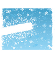 winter floral grunge vector image vector image