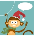 Christmas monkey vector image