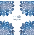 Watercolor floral blue pattern vector image