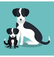 couple breed dogs isolated icon design vector image