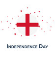 independence day of england patriotic banner vector image