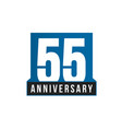 55th anniversary icon birthday logo vector image vector image