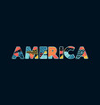 america concept word art vector image vector image