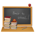 back to school school books vector image vector image