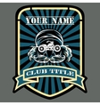 Biker or Motor racing club emblem vector image