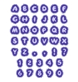 blue abc water alphabet in blot vector image vector image