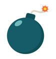 bomb flat icon dynamite and danger vector image