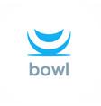 bowl logo vector image vector image