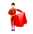 Bullfighter isolated on white vector image vector image