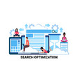 business people using gadget seo search vector image vector image