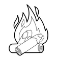 Campfire icon outline style vector image vector image