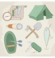 Camping hand drawn icons