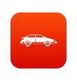 car icon digital red vector image vector image