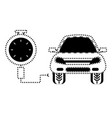 car service design vector image
