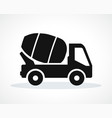 cement truck black icon vector image