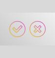 check box icons vector image vector image