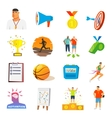 Coaching And Sport Flat Icons vector image