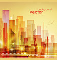 colorful city skyline vector image vector image