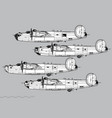 consolidated b-24 liberator vector image vector image