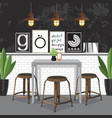dining room decorating vector image vector image