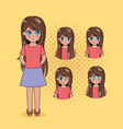 face anime people vector image vector image