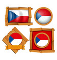 flag of chile on different frames vector image vector image