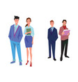 four office workers employees managers vector image vector image