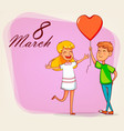 happy international womens day greeting card vector image vector image