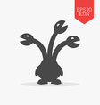 Hydra icon mythical creature Flat design gray vector image
