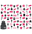 icons sweets and confectionery products vector image