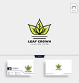 king or royal agriculture logo template vector image