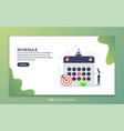 landing page template schedule modern flat vector image
