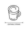 latte linear icon vector image