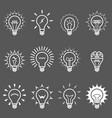 light bulbs and lamps icons - idea or innovation vector image vector image