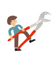 man with wrench icon vector image vector image